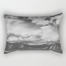 Red Rock Canyon, Las Vegas, Nevada. Mountain Black and White Photograph Rectangular Pillow