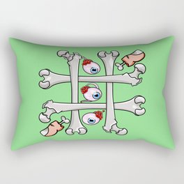 Halloween Tic Tac Toe Rectangular Pillow