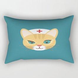 Nurse Cat ~ Teal Rectangular Pillow