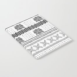Mud Cloth Geometric Stripe Notebook