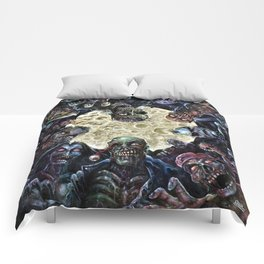 Zombies attack (zombie circle horde) Comforters