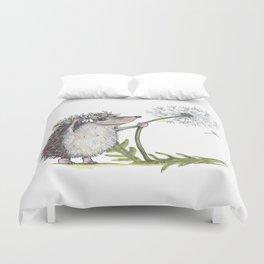 Hedgehog & Dandelion Duvet Cover