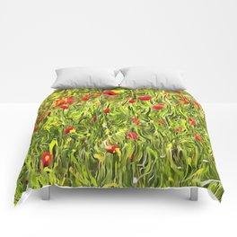Surreal Hypnotic Poppies Comforters