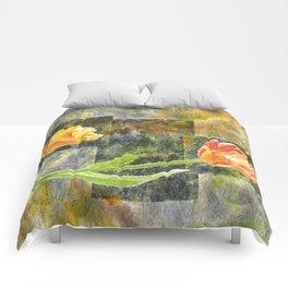 Graphic Tulips Comforters
