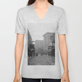 St. Charles Street from Canal, New Orleans, LA Unisex V-Neck