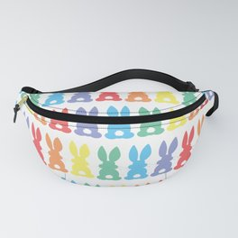 Rainbow Easter Bunny Silhouette Parade Fanny Pack