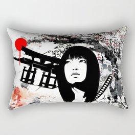 Japanese Geisha Warrior Rectangular Pillow