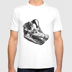 Brachiosaurus Mens Fitted Tee White MEDIUM