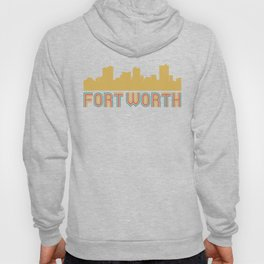 Vintage Style Fort Worth Texas Skyline Hoody