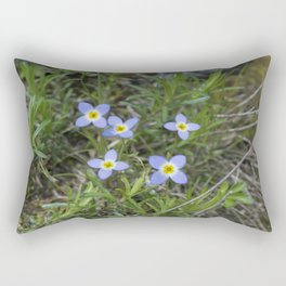 Thyme Leaved Bluets Rectangular Pillow
