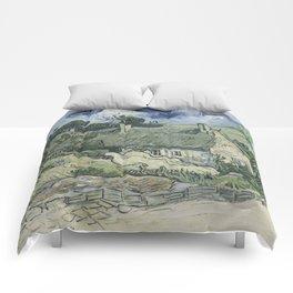 Vincent van Gogh - Thatched Cottages at Cordeville Comforters