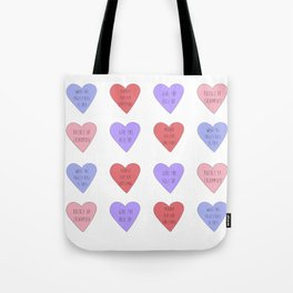 carmilla candy hearts Tote Bag