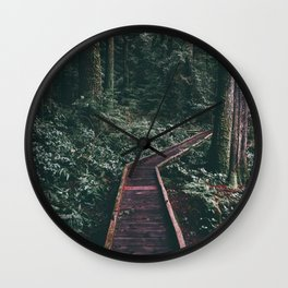 Path In The Woods Wall Clock
