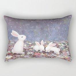 bunnies under the stars Rectangular Pillow