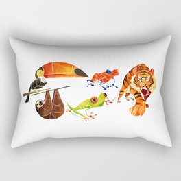 Rainforest animals 2 Rectangular Pillow