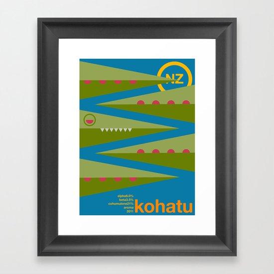 kohatu single hop Framed Art Print