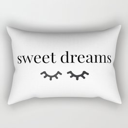 Sweet Dreams | Black-&-White Rectangular Pillow