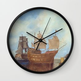 Mary Rose Wall Clock