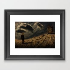 about the time Framed Art Print