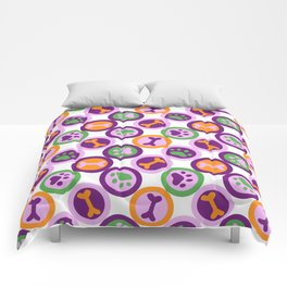 Multi-color Dog Pattern Comforters