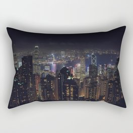 Hongkong Skyline at night Rectangular Pillow