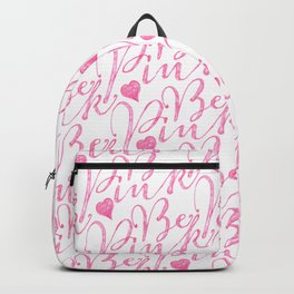 Girly Pastel Be Pink Text Hearts Pattern Backpack