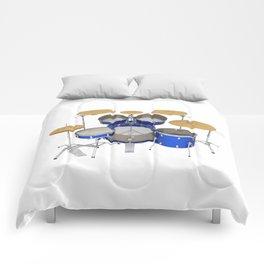 Blue Drum Kit Comforters