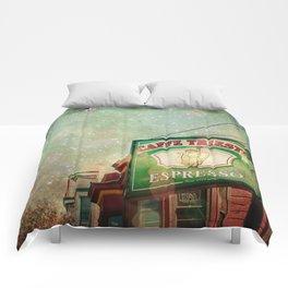 Caffe Trieste Comforters