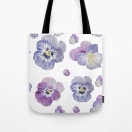 Watercolor Pansy Pattern Tote Bag