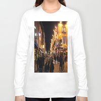 bar Long Sleeve T-shirts featuring Temple Bar by Flattering Images