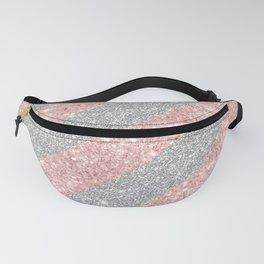 Geometrical chic silver blush pink glitter Fanny Pack