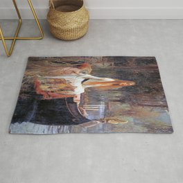 John William Waterhouse's The Lady of Shalott Rug