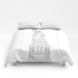 Statue of Liberty Blueprint Comforters