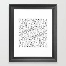 Speckles I: Double Black on White Framed Art Print