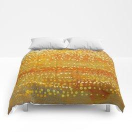 Landscape Dots - Orange Comforters