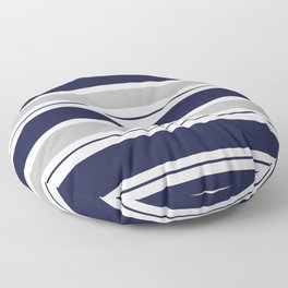 Navy Blue and Grey Stripe Floor Pillow