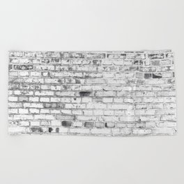 Withe brick wall Beach Towel