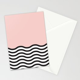 Waves of Pink Stationery Cards