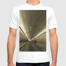 The Tunnel MEDIUM Mens Fitted Tee White