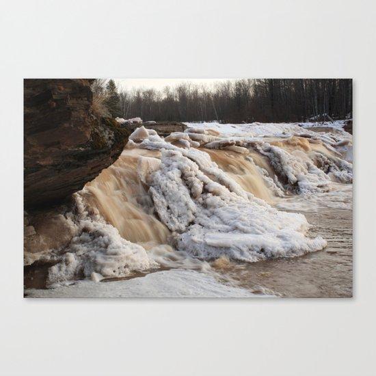 Wintry Bonanza Falls  Canvas Print