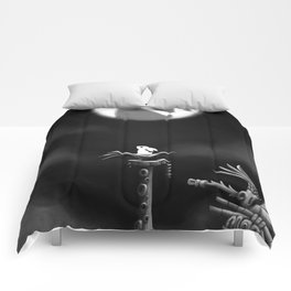 Rabbit on the moon Comforters