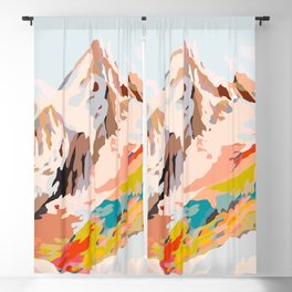 glass mountains Blackout Curtain