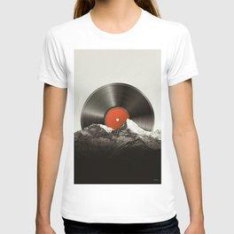 Retro vinyl record T-shirt