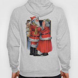Vintage Mr and Mrs Claus  Hoody