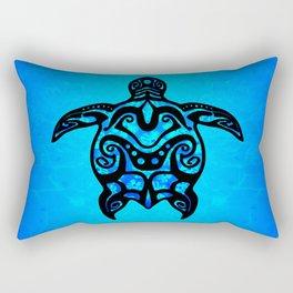 Tribal Turtle Hibiscus Rectangular Pillow