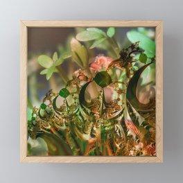 Natural and fractal seedlings Framed Mini Art Print