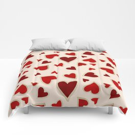 Ditsy dark hearts for lovers Comforters