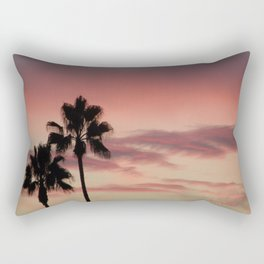 Atmospherics Number 3: Two Palms in the Sunset Rectangular Pillow