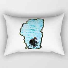 Tahoe Bicycle Bear - Ride Around the Lake Rectangular Pillow