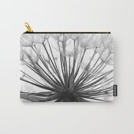 Black and White Dandelion Carry-All Pouch